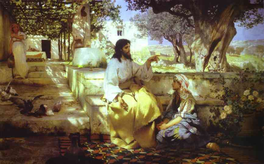 Christ In The House Of Martha And Mary 1886 | Henryk Hector Siemiradzki | Oil Painting