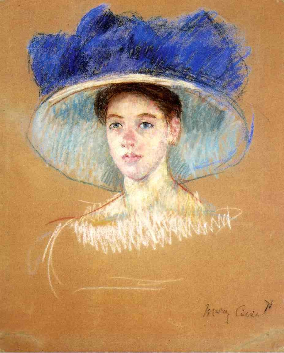 Woman's Head with Large Hat 1909 | Mary Cassatt | Oil Painting