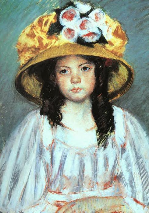 Girl in a Large Hat 1908 | Mary Cassatt | Oil Painting
