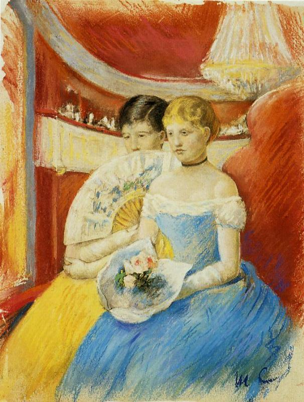 Women in a Loge 1881-1882 | Mary Cassatt | Oil Painting