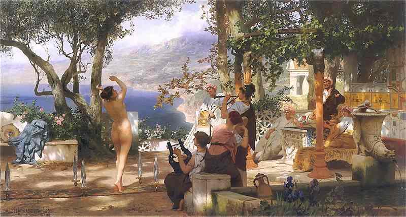 Dance Amongst Daggers 1881 | Henryk Hector Siemiradzki | Oil Painting