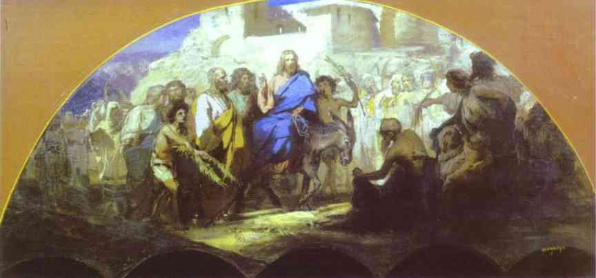 Entrance Of Christ Into Jerusalem 1876 | Henryk Hector Siemiradzki | Oil Painting