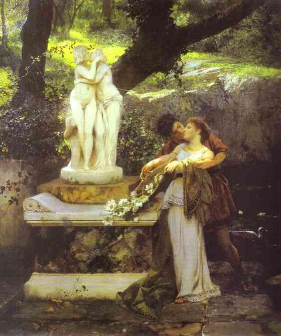 Following The Example Of The Gods Detail 1879 | Henryk Hector Siemiradzki | Oil Painting