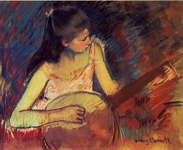 Girl with a Banjo 1893-1894 | Mary Cassatt | Oil Painting