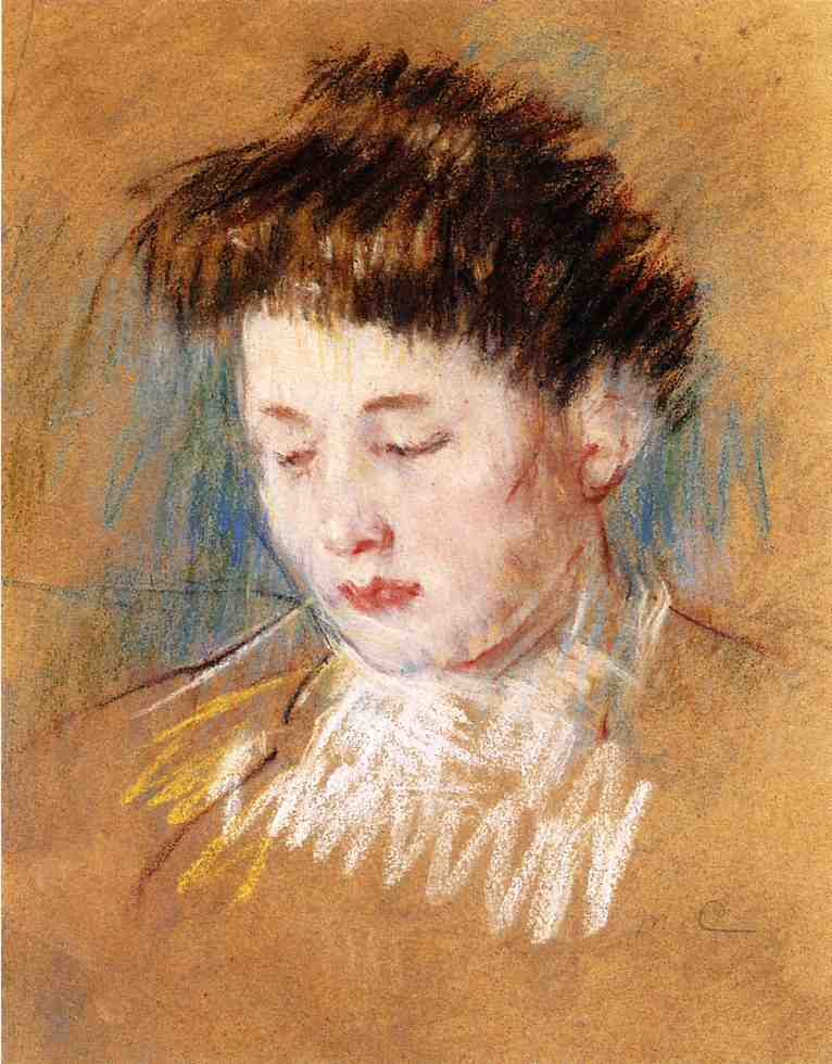 Head of Julie Looking Down 1909 | Mary Cassatt | Oil Painting