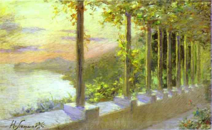 Italian Landscape   Henryk Hector Siemiradzki   Oil Painting