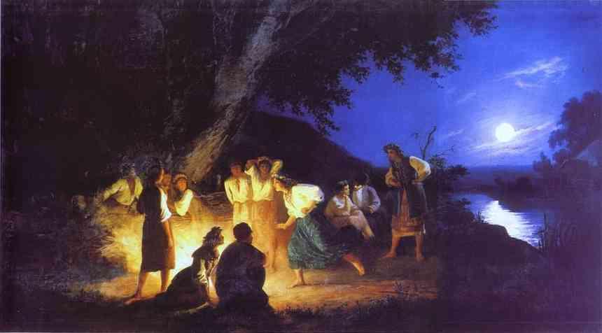 Night On The Eve Of Ivan Kupala 1880s   Henryk Hector Siemiradzki   Oil Painting