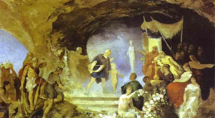 Orpheus In The Underworld 1880s   Henryk Hector Siemiradzki   Oil Painting
