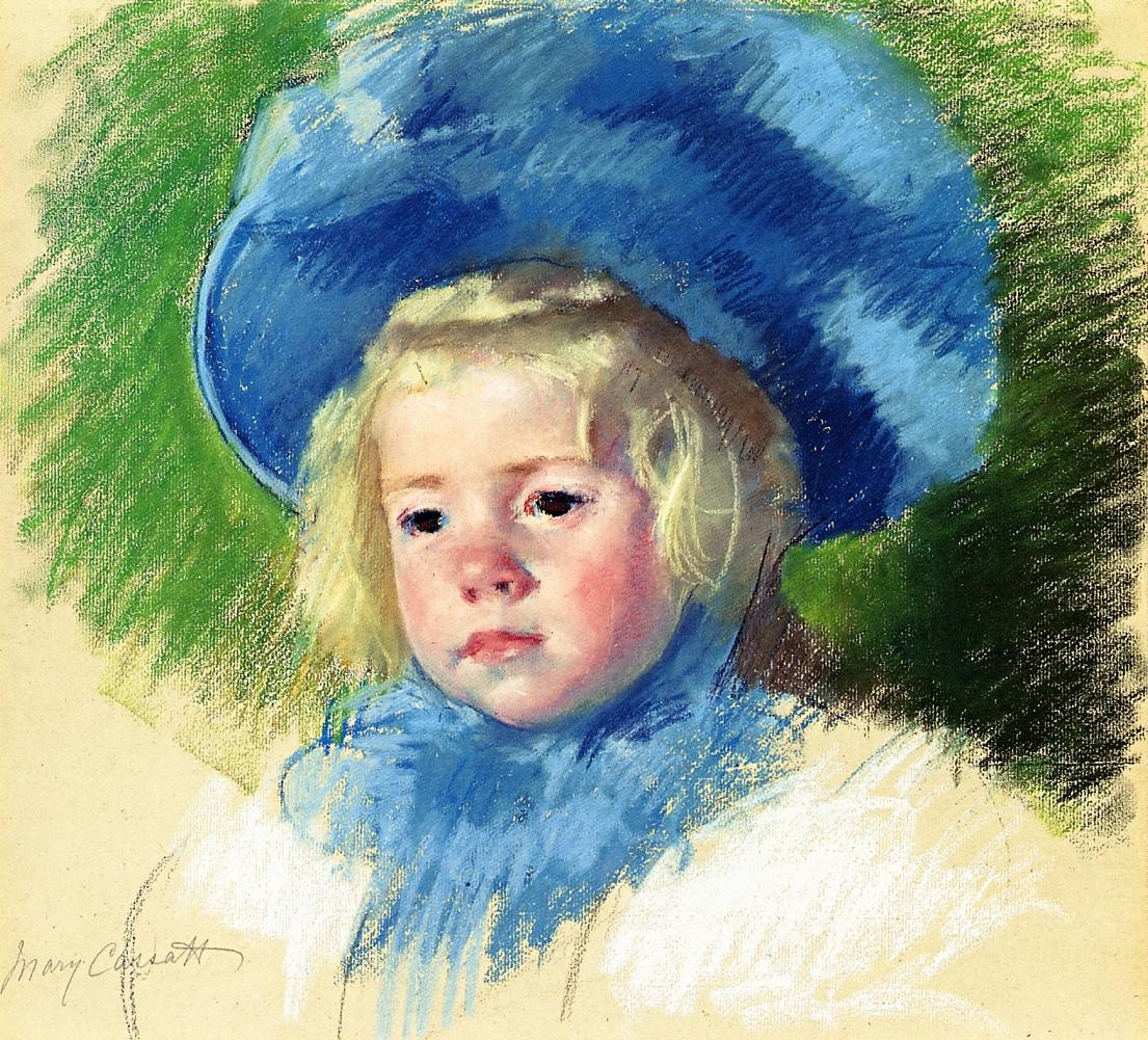 Head of Simone in a Large Plumes Hat Looking Left 1903 | Mary Cassatt | Oil Painting
