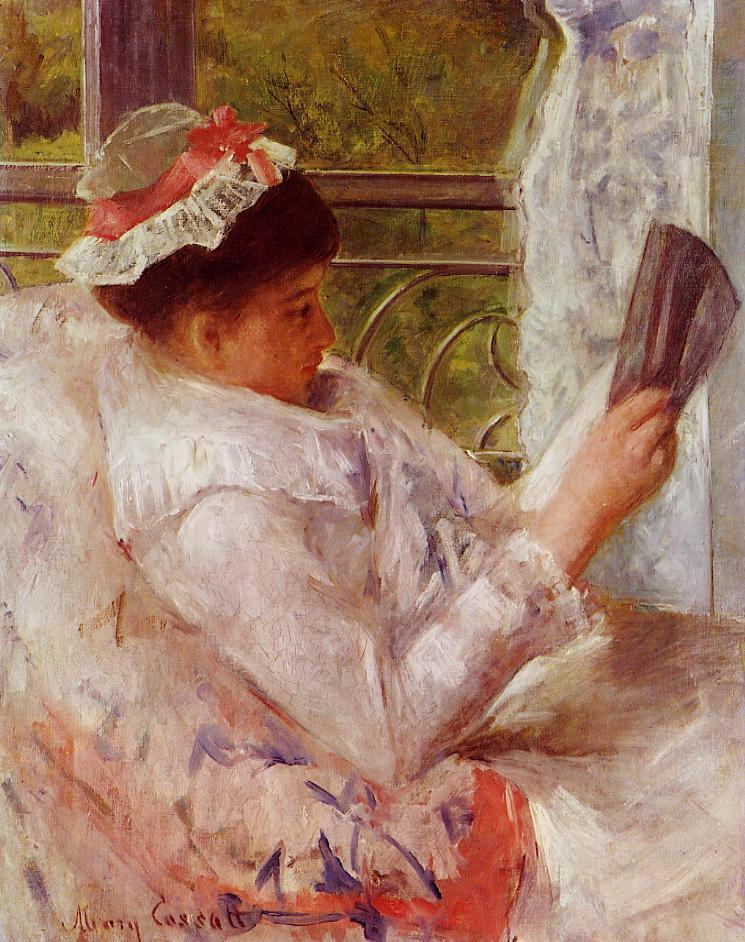 Woman Reading (aka Lydia Cassatt) 1878 | Mary Cassatt | Oil Painting