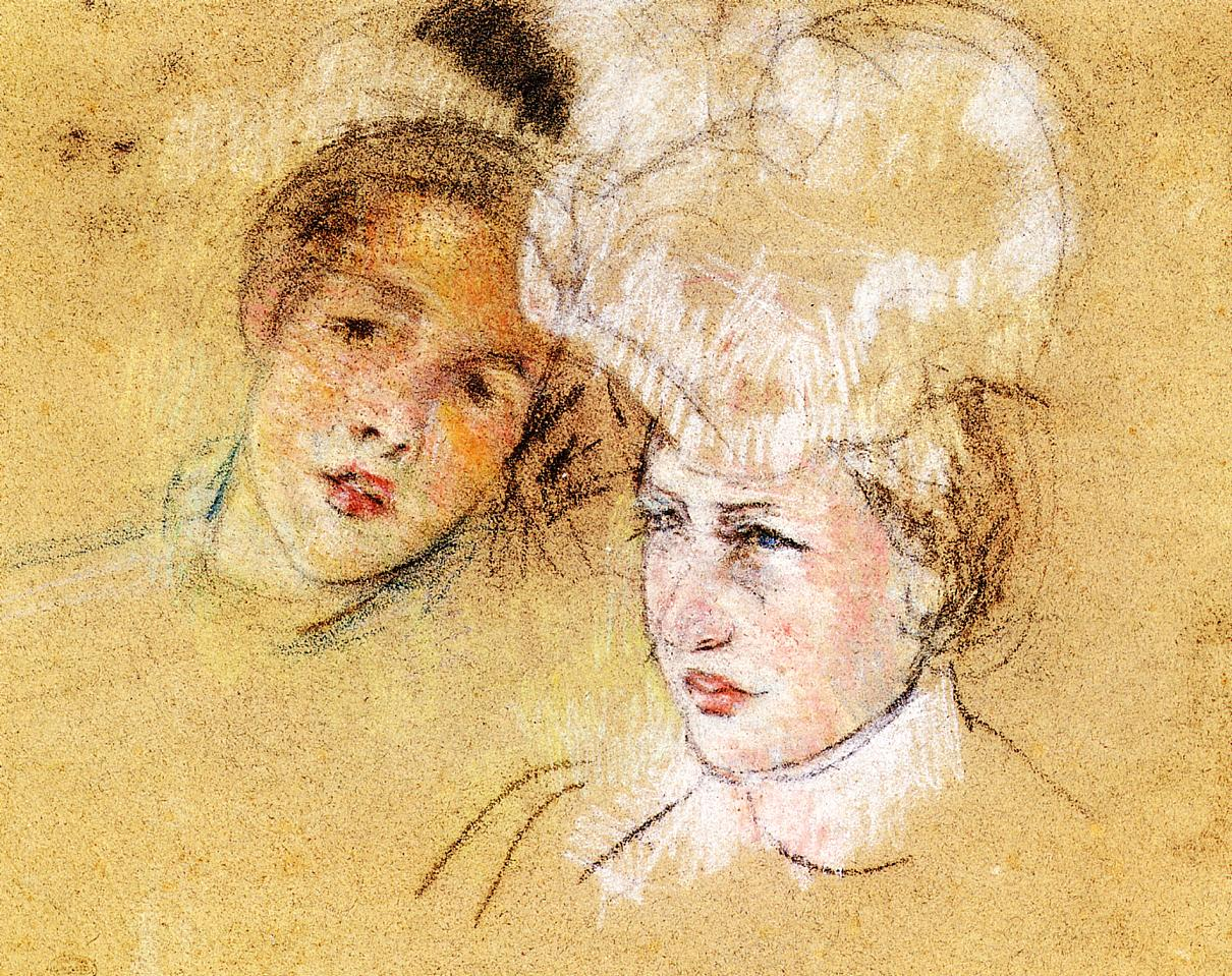 Heads of Leontine and a Friend 1898 | Mary Cassatt | Oil Painting
