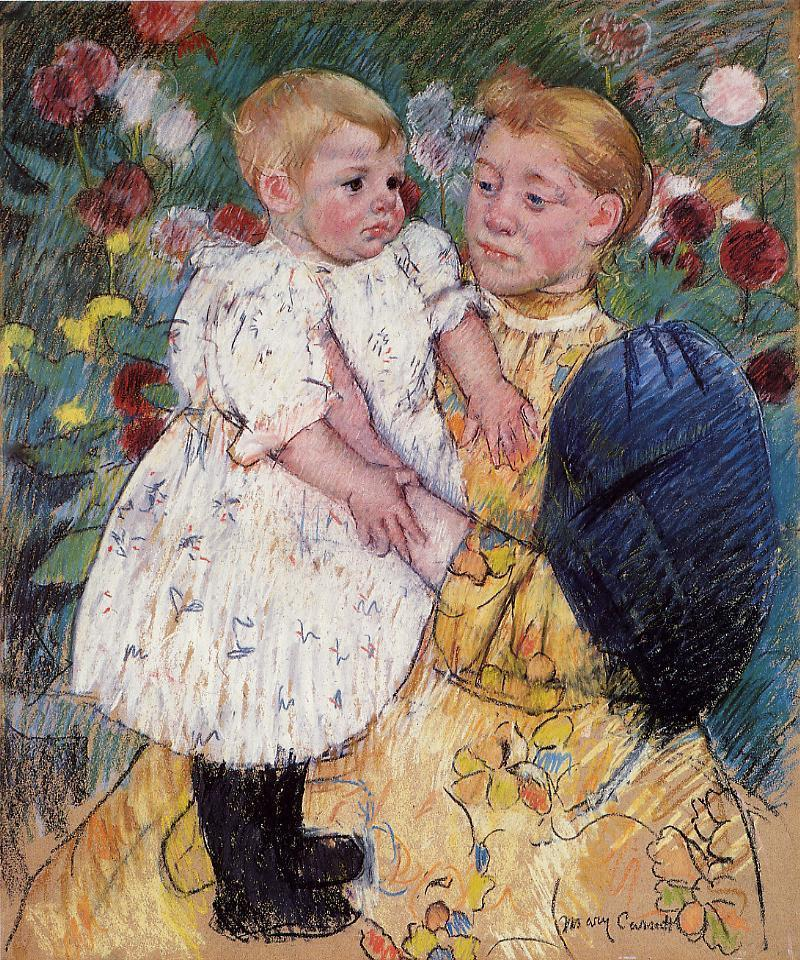 In the Garden 1893 | Mary Cassatt | Oil Painting