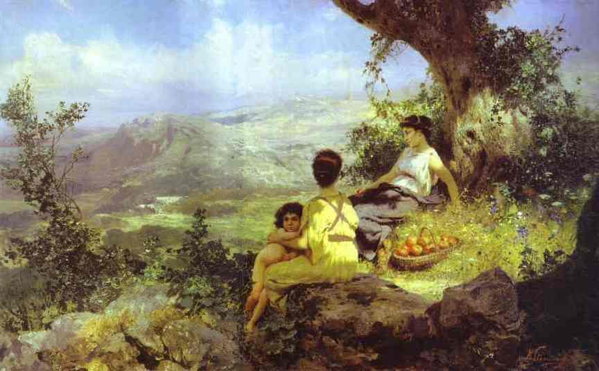 Rest 1896   Henryk Hector Siemiradzki   Oil Painting