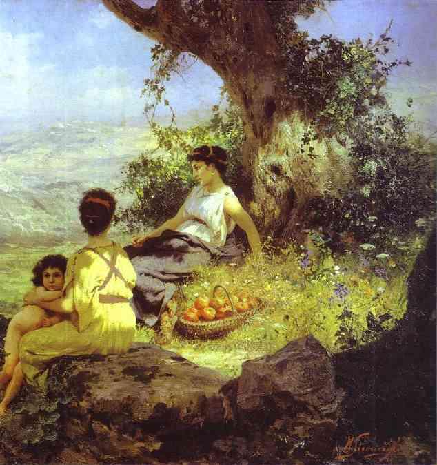 Rest Detail 1896   Henryk Hector Siemiradzki   Oil Painting
