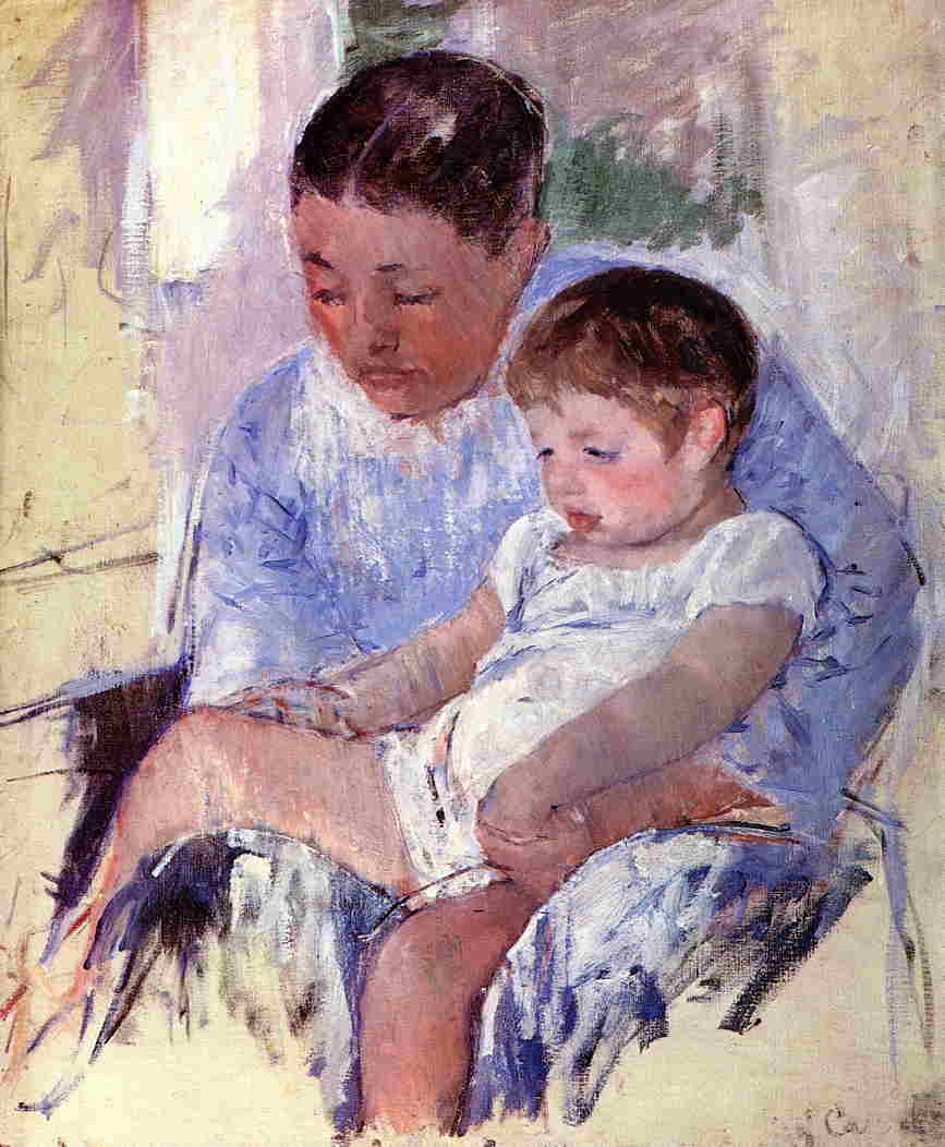 Jenny and Her Sleepy Child 1891 | Mary Cassatt | Oil Painting