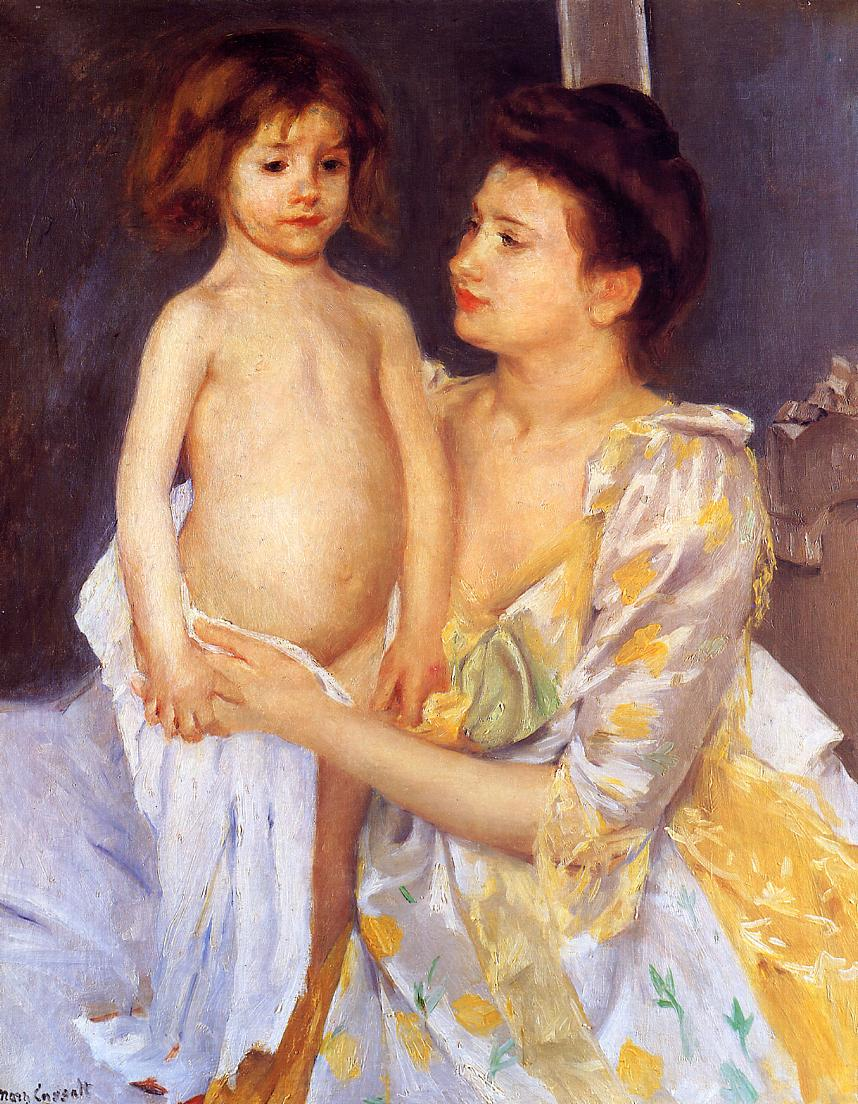 Jules Being Dried by His Mother 1900 | Mary Cassatt | Oil Painting
