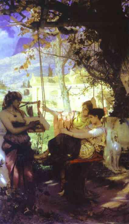 Song Of A Slave Girl 1884   Henryk Hector Siemiradzki   Oil Painting