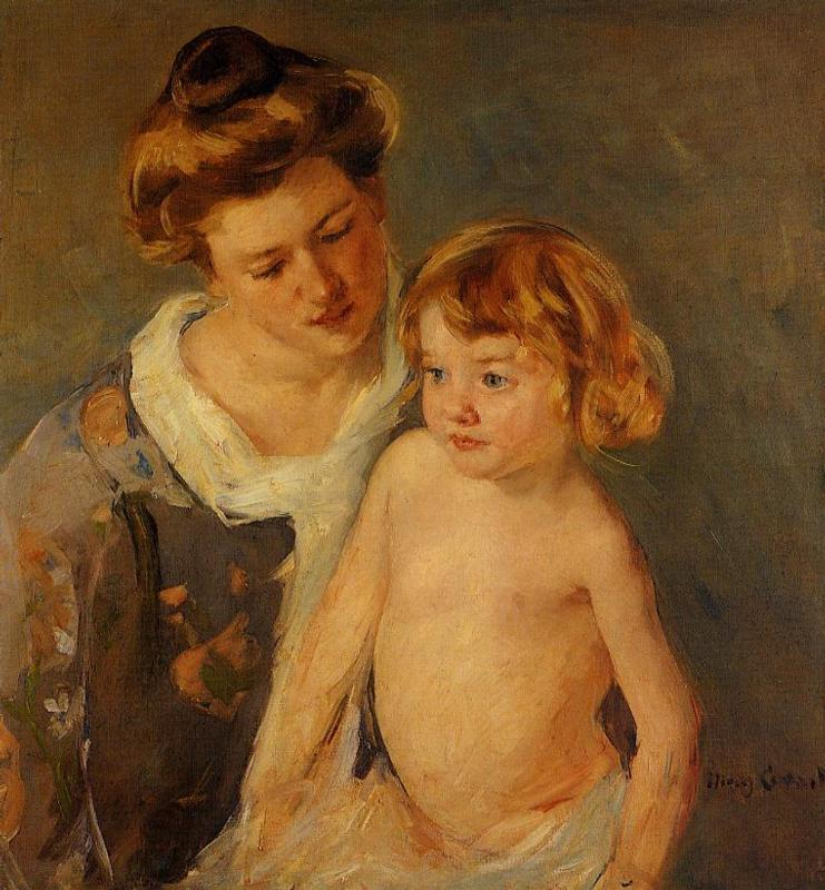 Jules Standing by His Mother 1901 | Mary Cassatt | Oil Painting