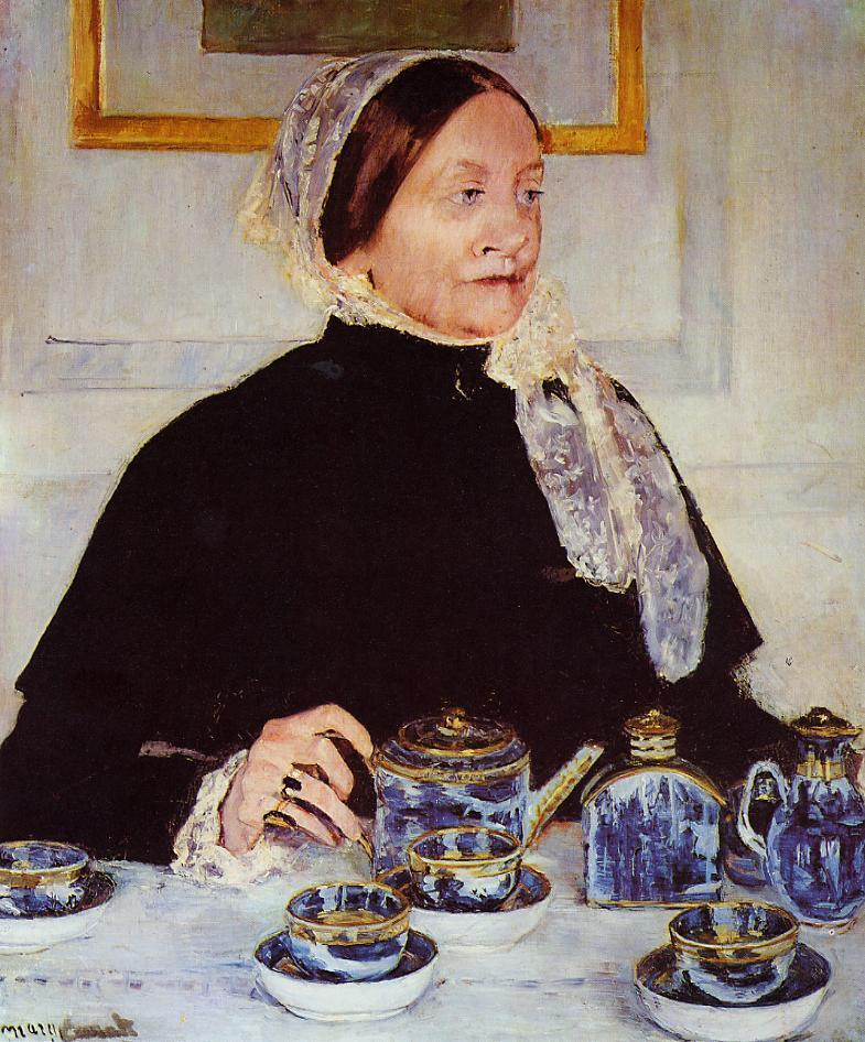 Lady at the Tea Table 1883 | Mary Cassatt | Oil Painting