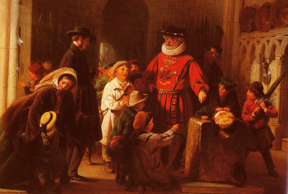 Children at the Tower | Henry Nelson O'Neil | Oil Painting