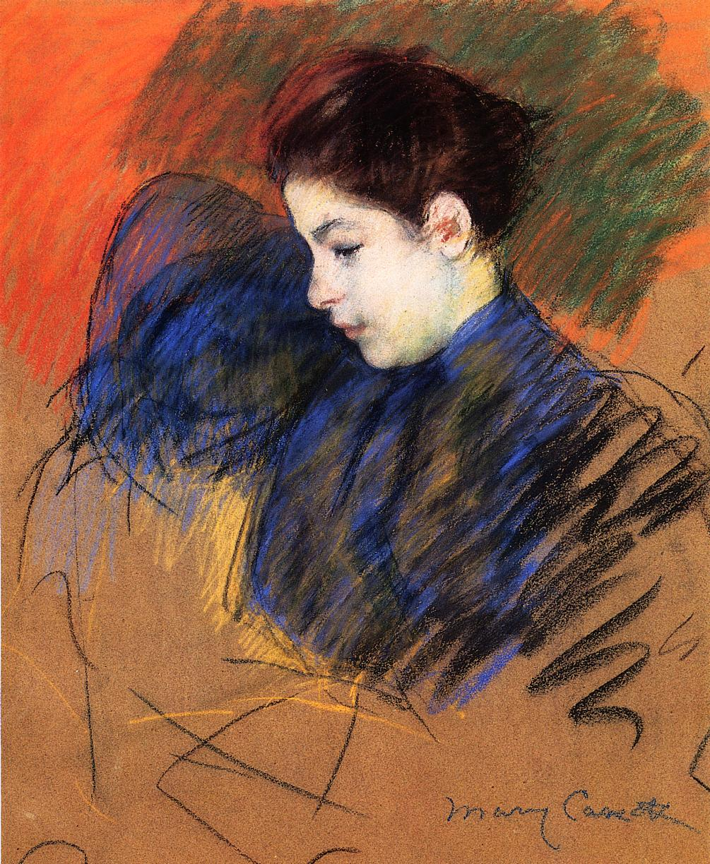 Young Woman Reflecting 1894 | Mary Cassatt | Oil Painting