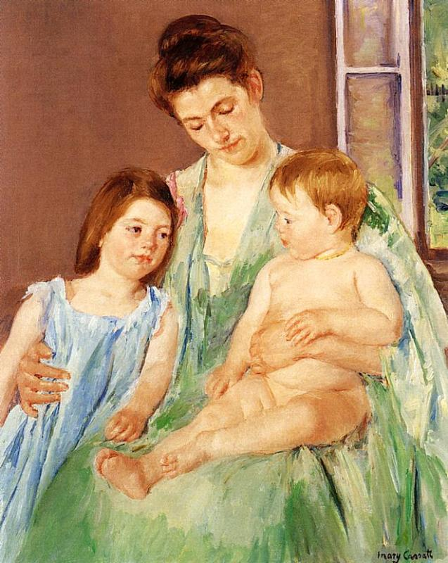 Young Mother and Two Children 1905 | Mary Cassatt | Oil Painting