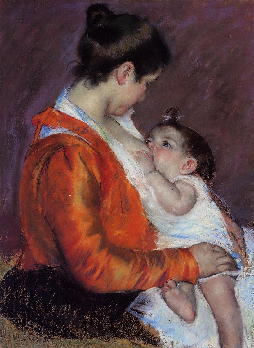 Louise Nursing Her Child 1898 | Mary Cassatt | Oil Painting