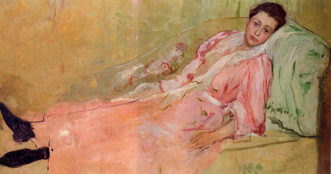 Lydia Reading on a Divan 1880-1881 | Mary Cassatt | Oil Painting