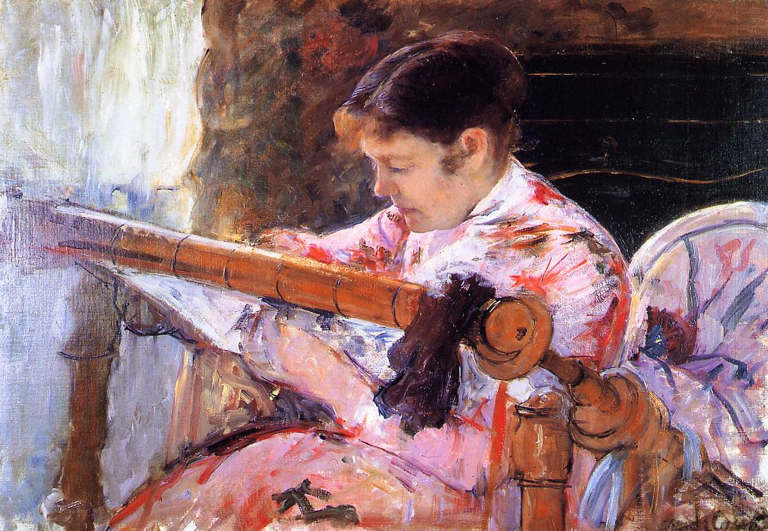 Lydia Seated at an Embroidery Frame 1880-1881 | Mary Cassatt | Oil Painting