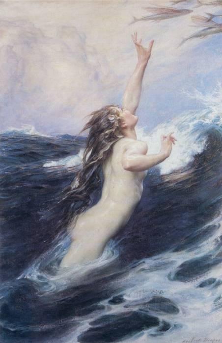 Flying Fish 1910   Herbert Draper   Oil Painting