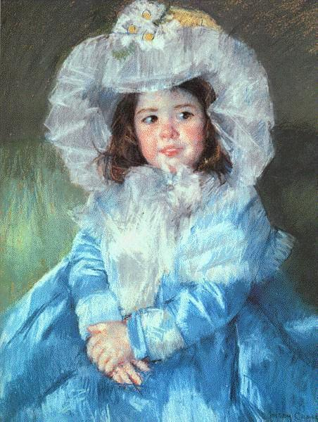 Margot in Blue 1902 | Mary Cassatt | Oil Painting