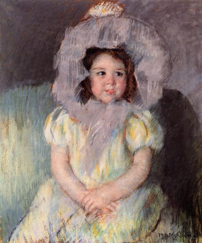 Margot in White 1902 | Mary Cassatt | Oil Painting