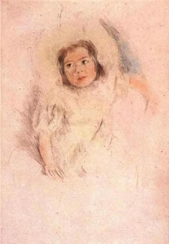 Margot Wearing a Bonnet 1903 | Mary Cassatt | Oil Painting