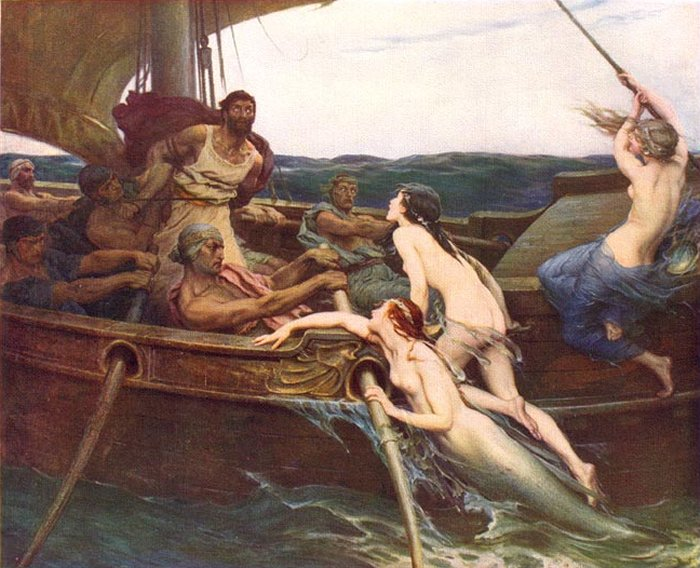 Ulysses And The Sirens 1909 | Herbert Draper | Oil Painting