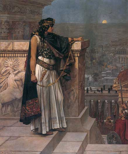 Queen Zenobias Last Look Upon Palmyra | Herbert Schmalz | Oil Painting
