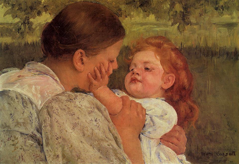 Maternal Caress 1896 | Mary Cassatt | Oil Painting