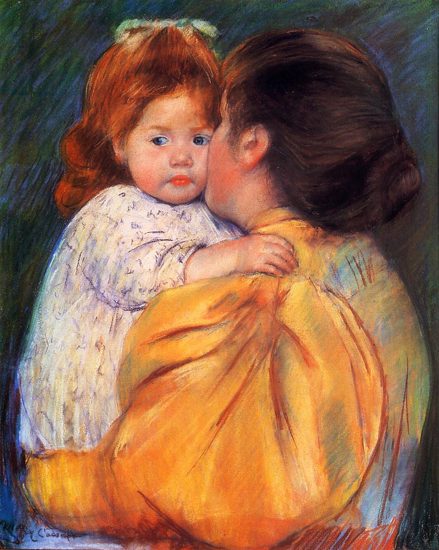 Maternal Kiss 1895-1896 | Mary Cassatt | Oil Painting