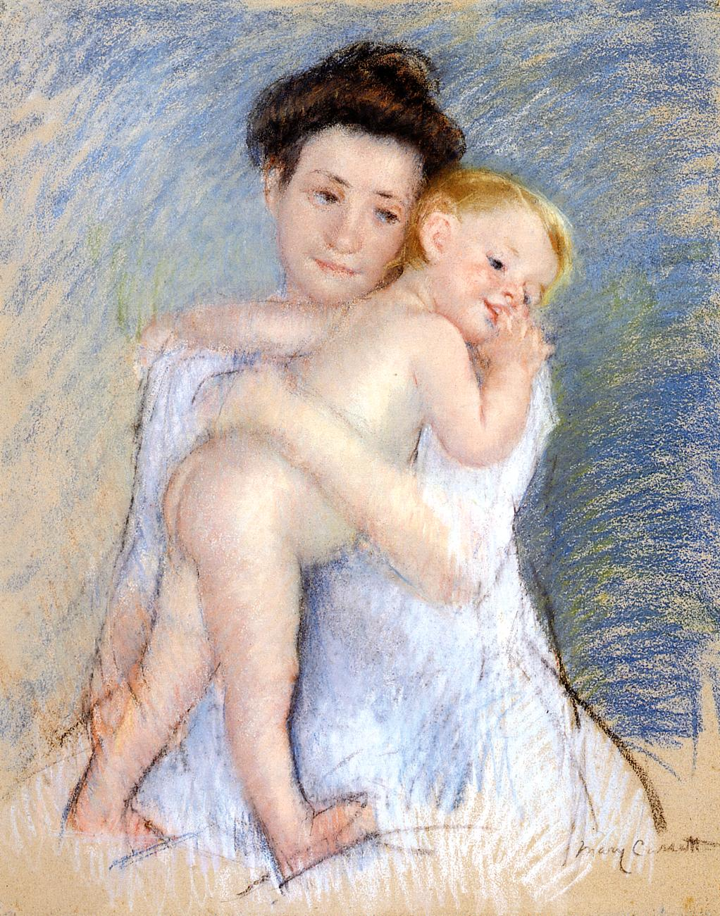 Maternal Tenderness 1908 | Mary Cassatt | Oil Painting