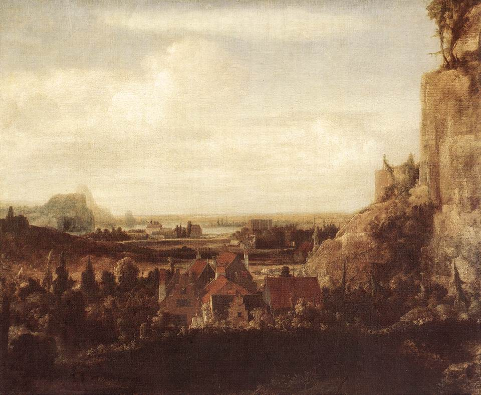 A River Valley With A Group Of Houses 1625 | Hercules Seghers | Oil Painting