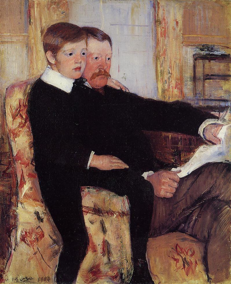 Portrait of Alexander J. Cassat and His Son Robert Kelso Cassatt 1884-1885   Mary Cassatt   Oil Painting