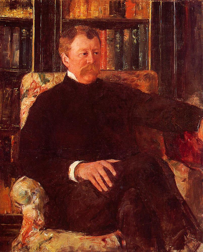 Portrait of Alexander J. Cassatt 1883   Mary Cassatt   Oil Painting