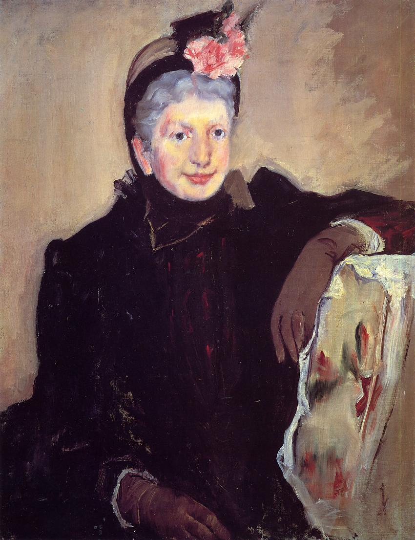 Portrait of an Elderly Lady 1883   Mary Cassatt   Oil Painting