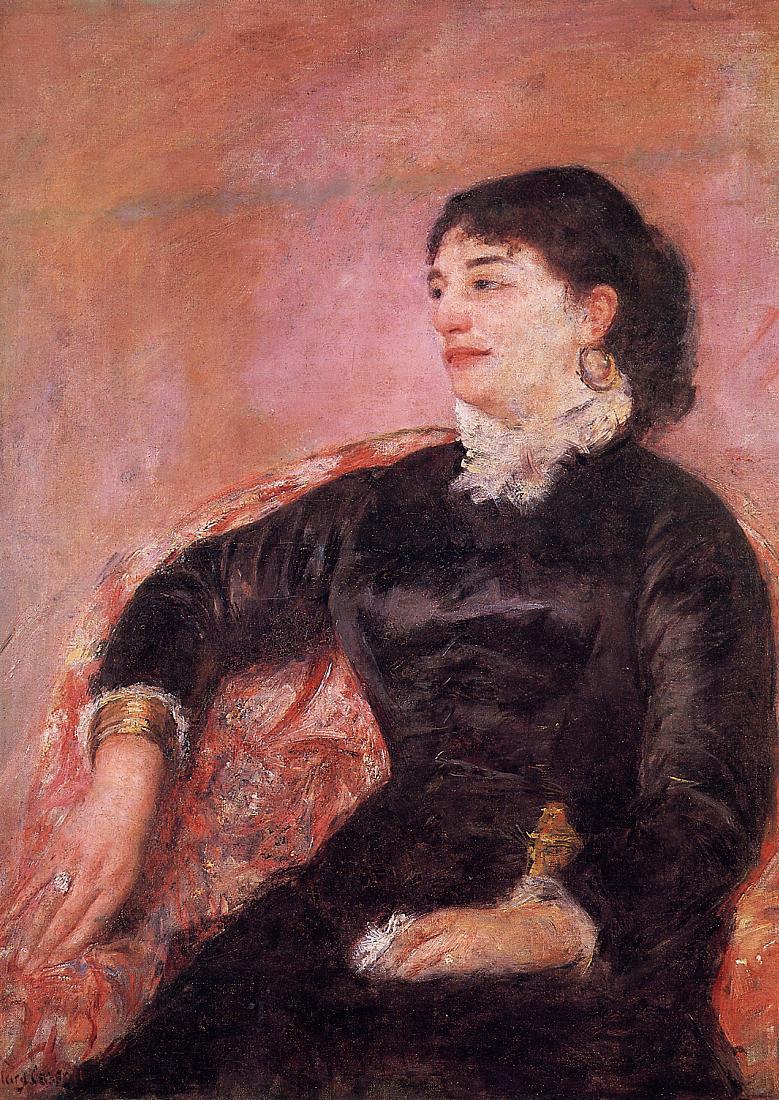 Portrait of an Italian Lady 1878   Mary Cassatt   Oil Painting