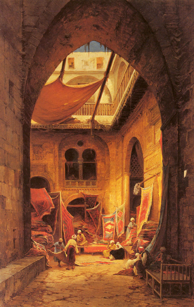 Arab Carpet Merchants | Hermann David Corrodi | Oil Painting