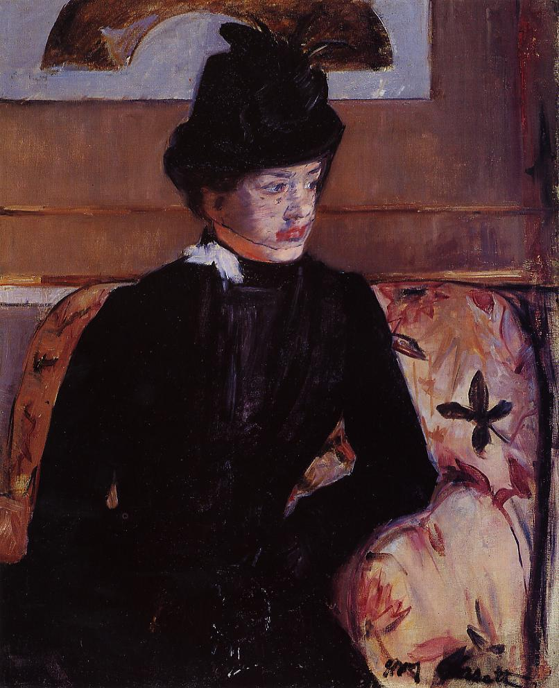 Portrait of Madame J (aka Young Woman in Black) 1883 | Mary Cassatt | Oil Painting
