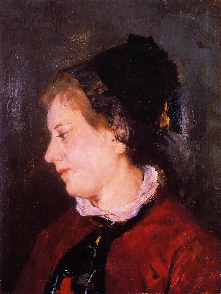 Portrait of Madame Sisley 1873   Mary Cassatt   Oil Painting
