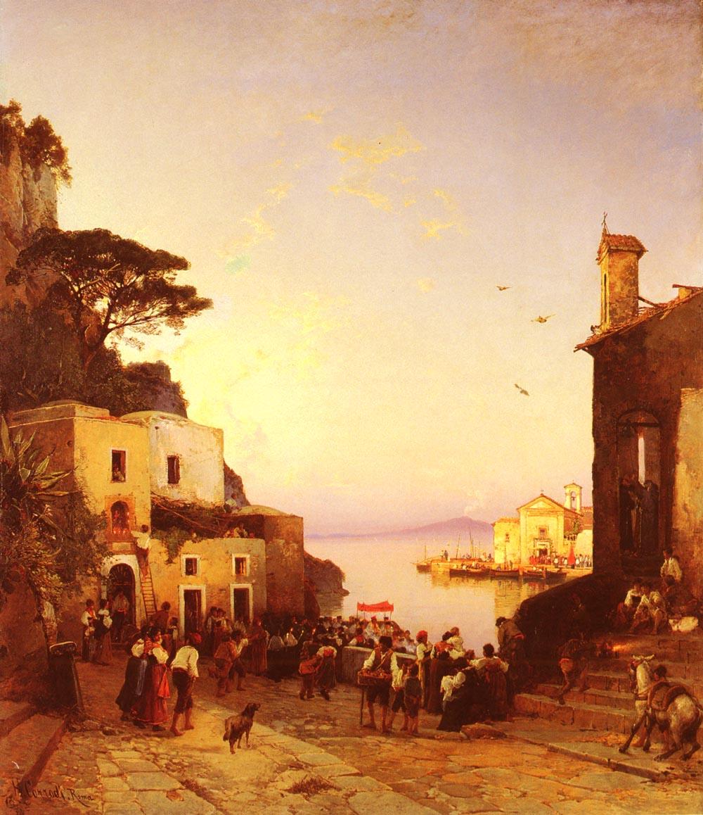 Processione A Sorrento | Hermann David Corrodi | Oil Painting