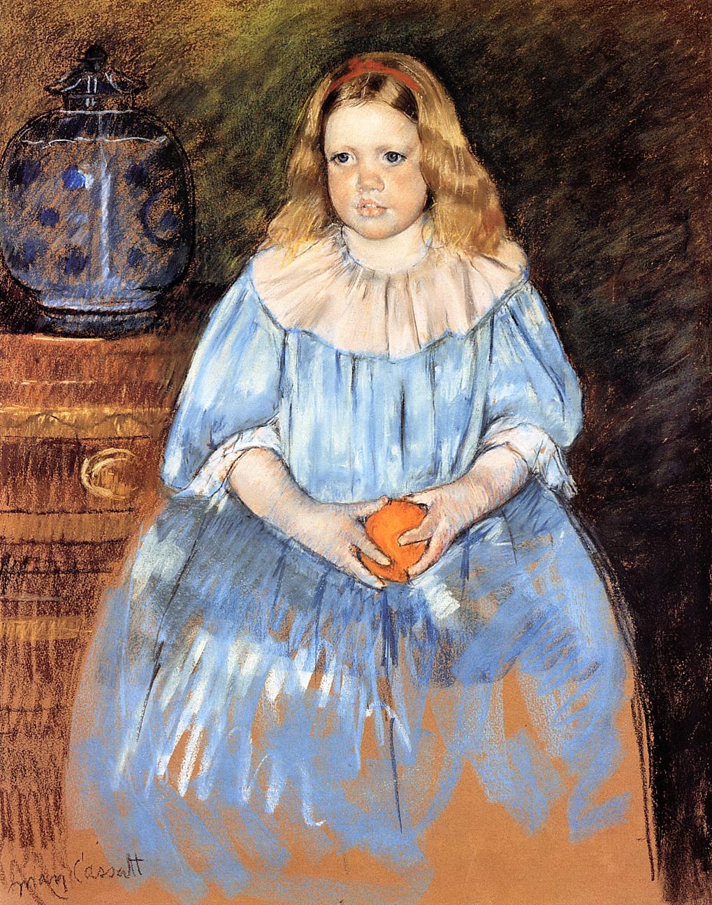 Portrait of Margaret Milligan Sloan (no.2) 1893   Mary Cassatt   Oil Painting