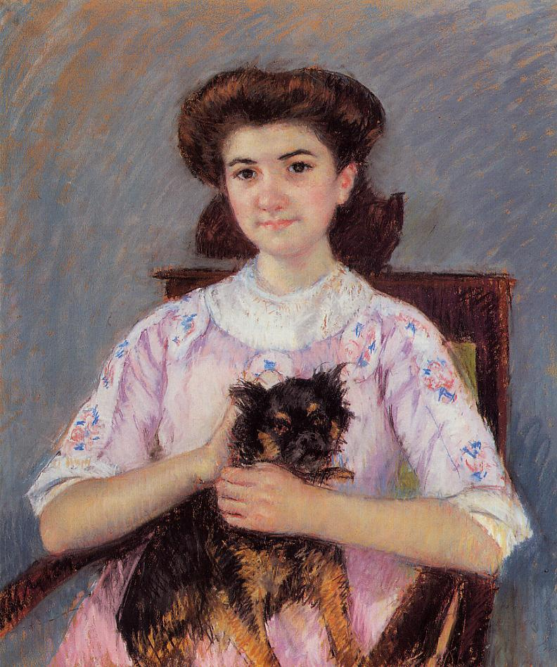 Portrait of Marie-Louise Durand-Ruel 1911   Mary Cassatt   Oil Painting