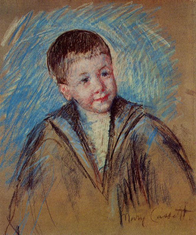 Portrait of Master St. Pierre (study) 1892   Mary Cassatt   Oil Painting